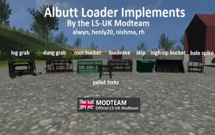 Albutt Loader Implements pack