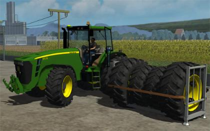 John Deere 8530 Dual Wheel Option