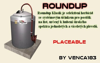 Roundup placeable fertilizerTank