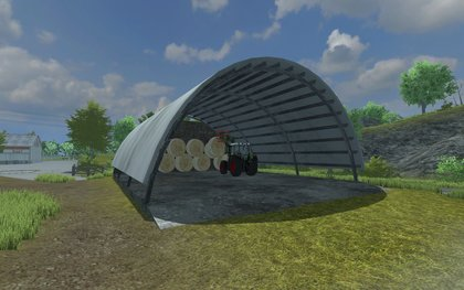 Placeable hayshed