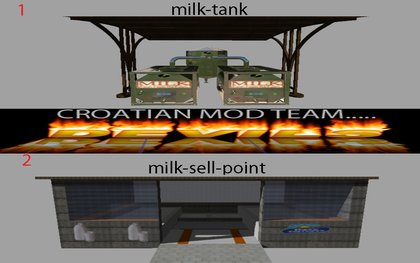 Tank and milk sell point