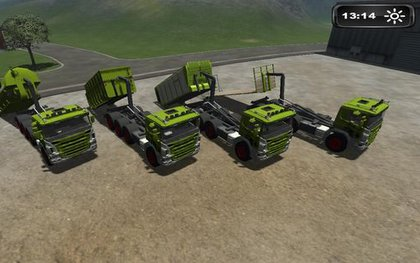 Claas Scania 420 HKL v2 pack